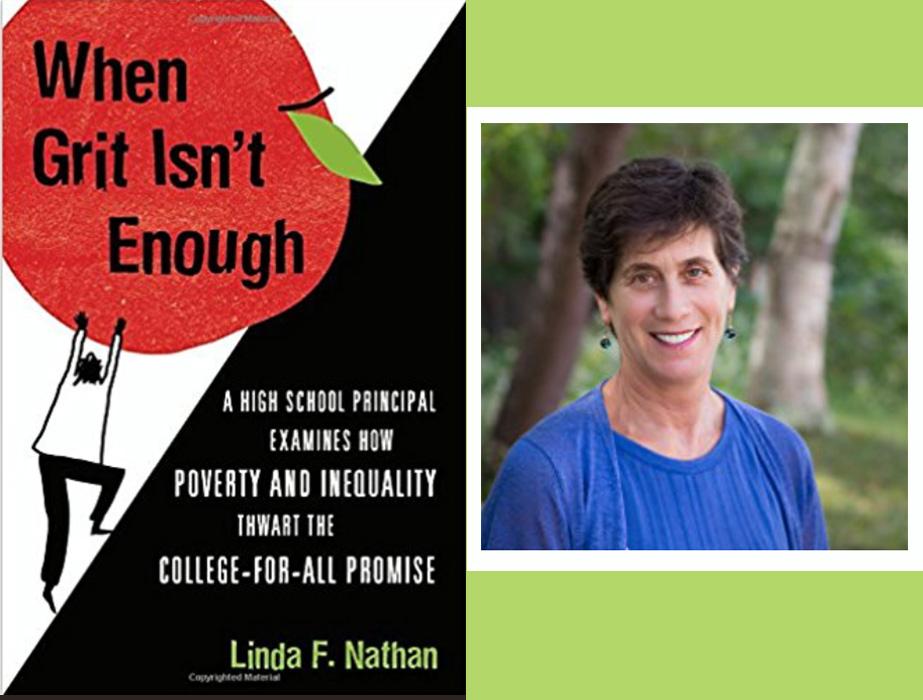 Linda Nathan with book